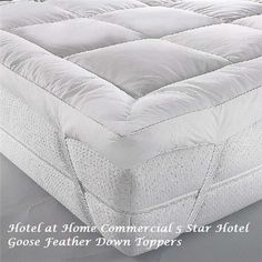 Luxury Goose Feather Down Topper As Used In Some Sofitel Hotels Hotel Quality Mattress Our