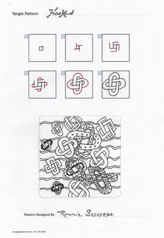 Circles, How to zentangle and Patterns on Pinterest