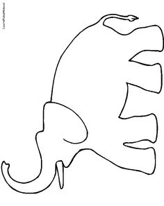 Elephant head pattern. Use the printable outline for