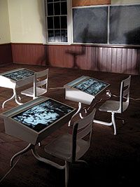 space saving high chair dxracer india 1000+ images about my touchscreen school desk project on pinterest   desks, student desks ...