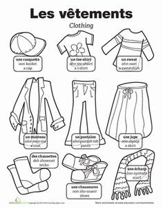 Worksheets, Kids worksheets and In french on Pinterest