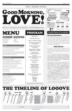 1000 ideas about Wedding Newspaper on Pinterest  Wedding Programs Weddings and Wedding