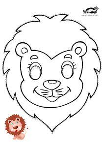 Printable Animal Masks: Cat Mask Cat Mask Coloring Page