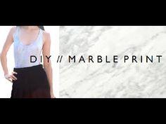 DIY   MARBLE PRINT -