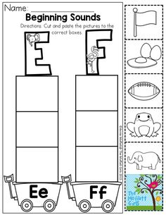 Cut and paste, Activities and Beginning sounds on Pinterest