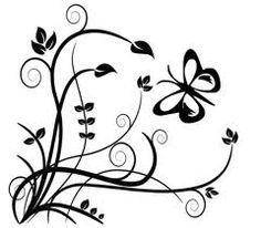Best and Beautiful Black and White Floral Corner Borders