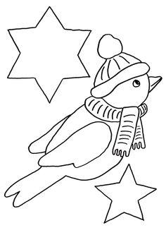 Kookaburra pattern. Use the printable outline for crafts