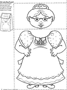 Coloring Pages for There Was an Old Lady Who Swallowed a