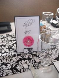 Table Numbers Card Holders : wedding binder clip diy ...