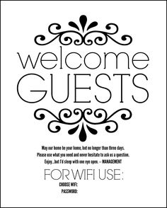 1000+ ideas about Wifi Password Printable on Pinterest