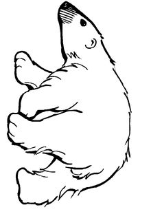 Polar Bear pattern. Use the printable pattern for crafts