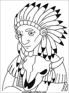 Native North American Indians printable coloring pages