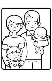 Tipos de familia. Fichas escolares de vida en sociedad