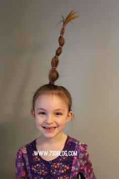 Bird Nest Easy Halloween Or Crazy Hair Day At School Hairstyle