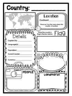 Map Skills: Location on a Grid- Use the map and key to