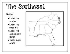 This smartboard activity is a map of the southeast where