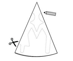 Shooting star pattern. Use the printable outline for