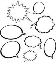 Printable conversation bubbles laminate and put on top of