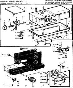 Sears Kenmore 158.10401 (Model 1040) Sewing Machine