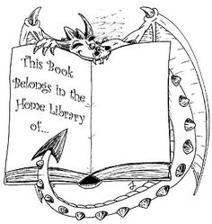 Free book plates by wonderful authors. This is my
