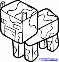 How to Draw a Minecraft Wither, Withers, Step by Step