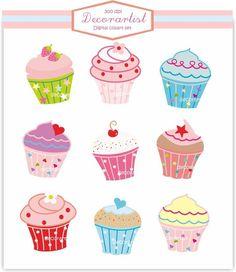 cakes clipart set - clip art
