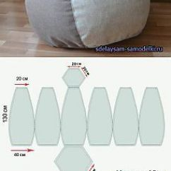 No Sew Bean Bag Chair Lawn Webbing Clips Diy Template - Google Search | Crafts Pinterest Chairs, And Bags