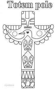 Totem pole pattern. Use the printable outline for crafts