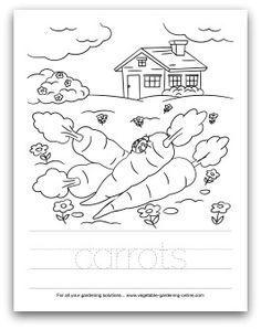 Free printable vegetable garden word match worksheet for