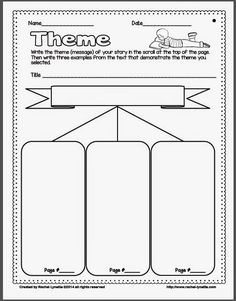 FREE pre-writing graphic organizer for narrative stories