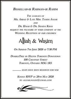 Muslim Wedding Cards Wordings Ic Invitations