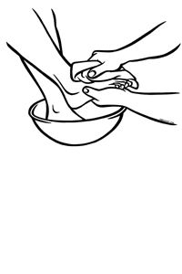 Unique style coloring page of the Madonna and Child