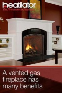 Gas fireplaces, Fireplaces and Vented gas fireplace on ...