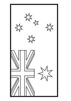 Australia Day. A labelled diagram of the Australian flag