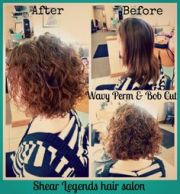 permed inverted bob short hairstyle