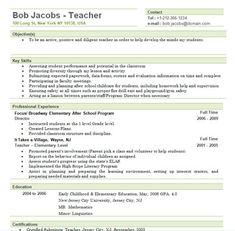 elementary school teacher resume examples - Substitute Teacher Resume Example