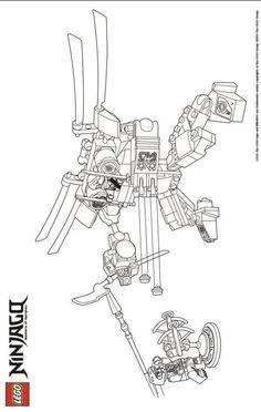Printable coloring page for LEGO Ninjago Golden Dragon
