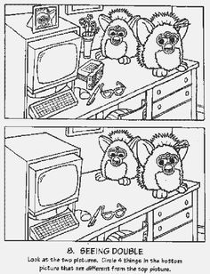 1000+ images about furby coloring pages on Pinterest