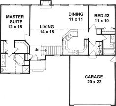Style House Plans 1218 Square Foot Home 1 Story 2 Bedroom And