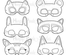Australian Animals Printable Coloring Masks, aussie animal