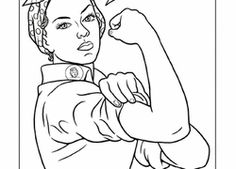 Rosie The Riveter Coloring Pages Printable Coloring Pages