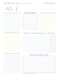 2016 Year on a Page Printable in half-size format. Perfect