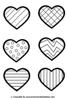 Toddler matching activity- File Folder Game: Heart Pattern