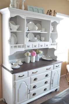 Before Amp After An Outdated Hutch Goes Cottage Chic