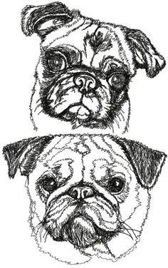 Printable pug coloring page. Free PDF download at http