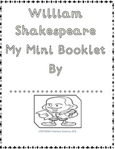 1000+ ideas about William Shakespeare For Kids on