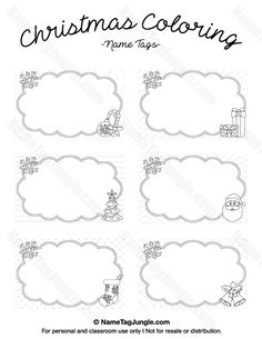 Free printable mermaid name tags. The template can also be