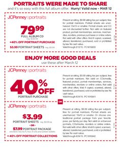coupon for jcpenney portrait