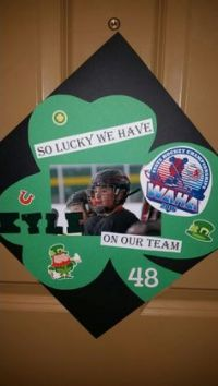 Hockey tourney door sign - make in team colors with ...