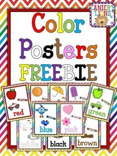 1000 Images About Pre K Color Posters On Pinterest